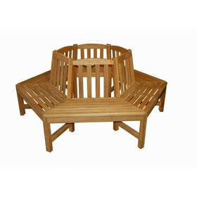 "Regal Teak 34"" Dia Tree Bench - 4 Pieces"