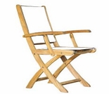 Three Birds Riviera Teak Folding Armchair