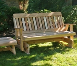 Rocking Glider and Table Set - Cedar Countryside