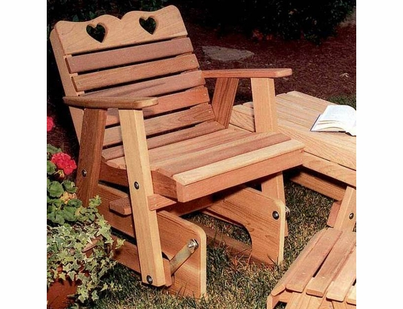 Rocking Glider Chair - Cedar Country Hearts