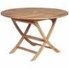 "Sailor Teak 30"" or 47"" Round Semi-Folding Teak Tables"