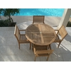 "Sailor Teak 47"" Round Table + 4 Avant Chairs"