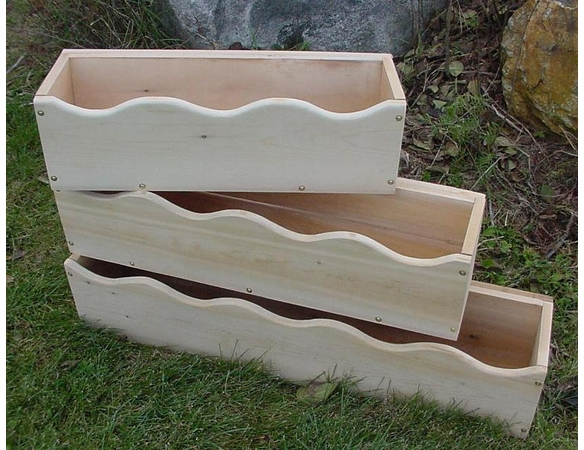 Scalloped Cedar Window Box Planter: 3 Sizes