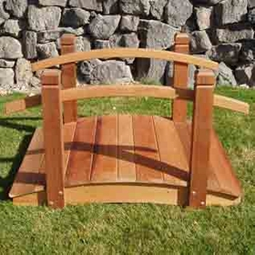 Solid Red Cedar Garden Bridge: 4 foot - Not Available at this time.