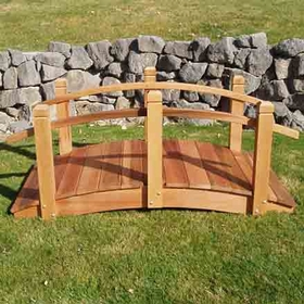 Solid Red Cedar Garden Bridge: 6 foot - Not Available at this time.