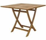 "Square Teak Sailor 29.5"" Semi-Folding Table"