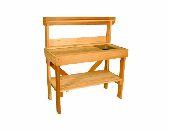 Sturdy Western Red Cedar Potting Table