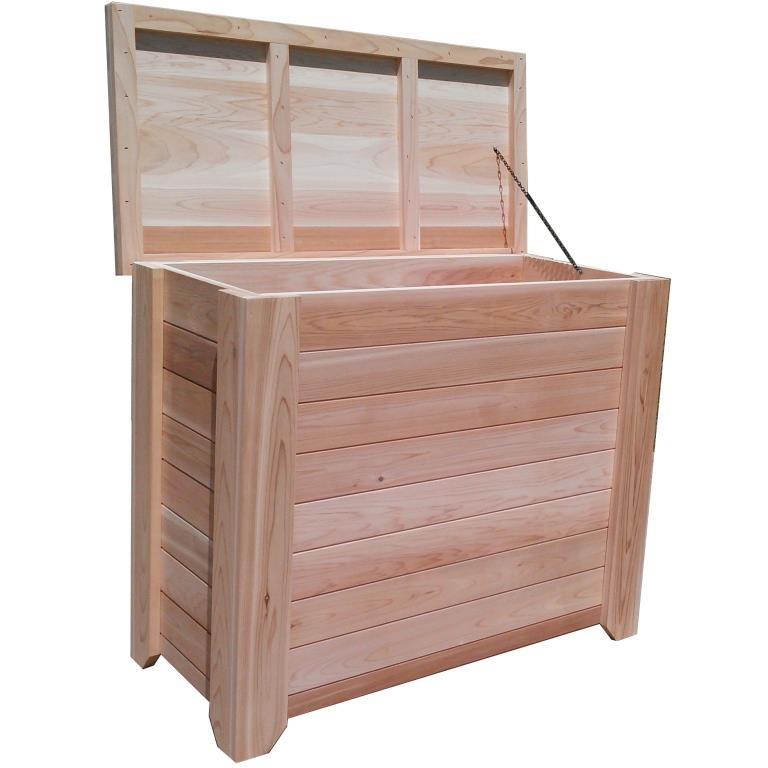Tall Wood Storage Box - 5u0027 - Exclusive Item - Not Currently Available  sc 1 st  Outdoor Furniture Plus & Tall Wood Storage Box u2013 5u0027 u2013 Exclusive Item