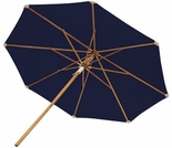 Teak 10' Deluxe Market Umbrella - Navy, Green & Off White Options