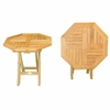 "Teak 20"" Octagonal Folding Side Table"
