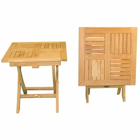 """Teak 20"""" Square Folding Side Table - Not Currently Available"""