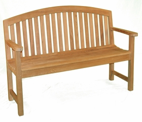 Teak 5' Fanback Bench - Currently Out of Stock