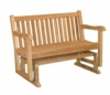 Teak 4' English Garden Glider Bench - Not Currently Available