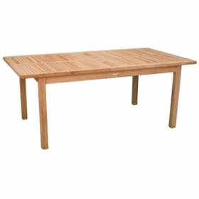 """Teak Arlington 74"""" Rectangular Dining Table - Currently Out of Stock"""