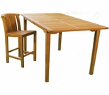 "Teak Arlington 74"" x 39"" Bar Table - Currently Out of Stock"