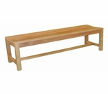 Teak 4' & 5' Backless Bench - Currently Out of Stock