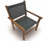 Teak Captiva Sling Stacking Chair