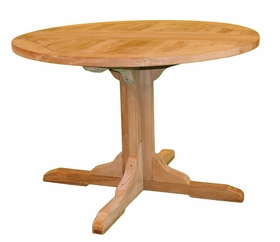 """Teak Claptise 30"""" or 43"""" Round Dining Table - Currently Out of Stock"""