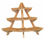 Teak Corner Plant Stand - Currently Out of Stock