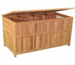 "Teak 49"" Cushion Box - Currently Out of Stock"