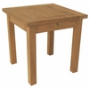 "Teak English Garden 20"" Square End Table - Currently Out of Stock"