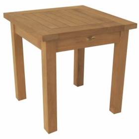 """Teak English Garden 20"""" Square End Table - Currently Out of Stock"""