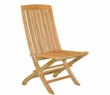 Teak Fan Folding Side Chair - Currently Out of Stock