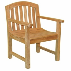 Teak Fanback Arm Chair