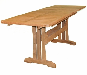 """Teak Glenora 71"""" - 106"""" Expansion Dining Table - Currently Out of Stock"""