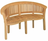 "Teak 68"" Half Moon Curved Bench - Currently Out of Stock"