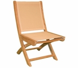 Teak Hampton Folding Sling Side Chair