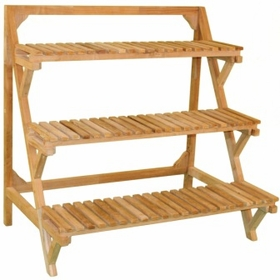 Teak Plant Stand Middle Unit - Currently Out of Stock