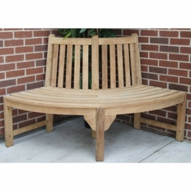 Teak Quarter Surround Tree Bench - Currently Out of Stock