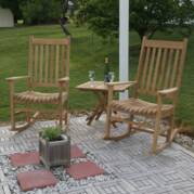 Teak Rocking Chair Set - Not Currently Available
