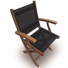 Teak Sailmate Folding Arm Chair