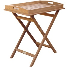Teak Serving Tray on Stand