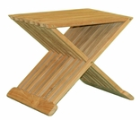 "17"" or 19"" Teak Snack Table - Small Currently Out of Stock"