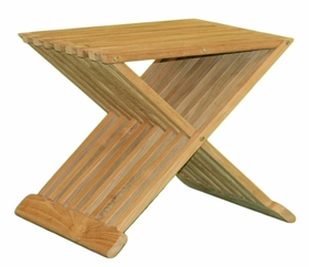 """17"""" or 19"""" Teak Snack Table - Currently Out of Stock"""