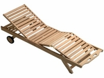 Teak Sun Bed Lounge Chair - Out of Stock until May