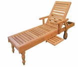 Teak Taft Chaise Lounge - Currently Out of Stock