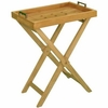 """Teak 20"""" Tray with Stand"""