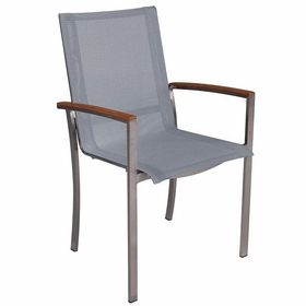 Three Birds Avanti Sling Stacking Arm Chair