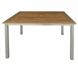 "Three Birds Avanti Teak 40"" Square Dining Table"