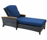 Three Birds Bella Wicker Chaise Lounge Chair