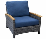 Three Birds Bella Wicker Club Chair