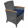 Three Birds Bella Wicker Dining Arm Chair