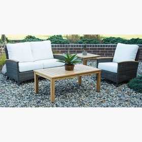 Three Birds Bella Wicker Loveseat Seating Group