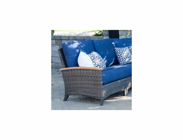 Three Birds Bella Wicker Sectional Left Side Facing Arm Chair