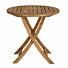 "Three Birds Cambridge Teak 30"" Round Folding Bistro Table - Currently Unavailable"