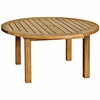"Three Birds Canterbury Teak 36"" Round Coffee Table"